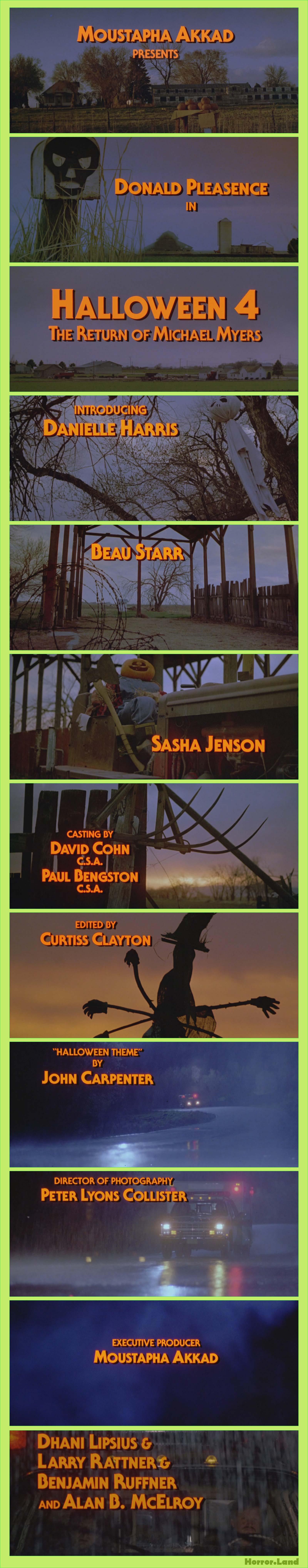 Halloween 2020 Title Sequence Title Breakdown   Halloween   Horror Land   Horror Entertainment