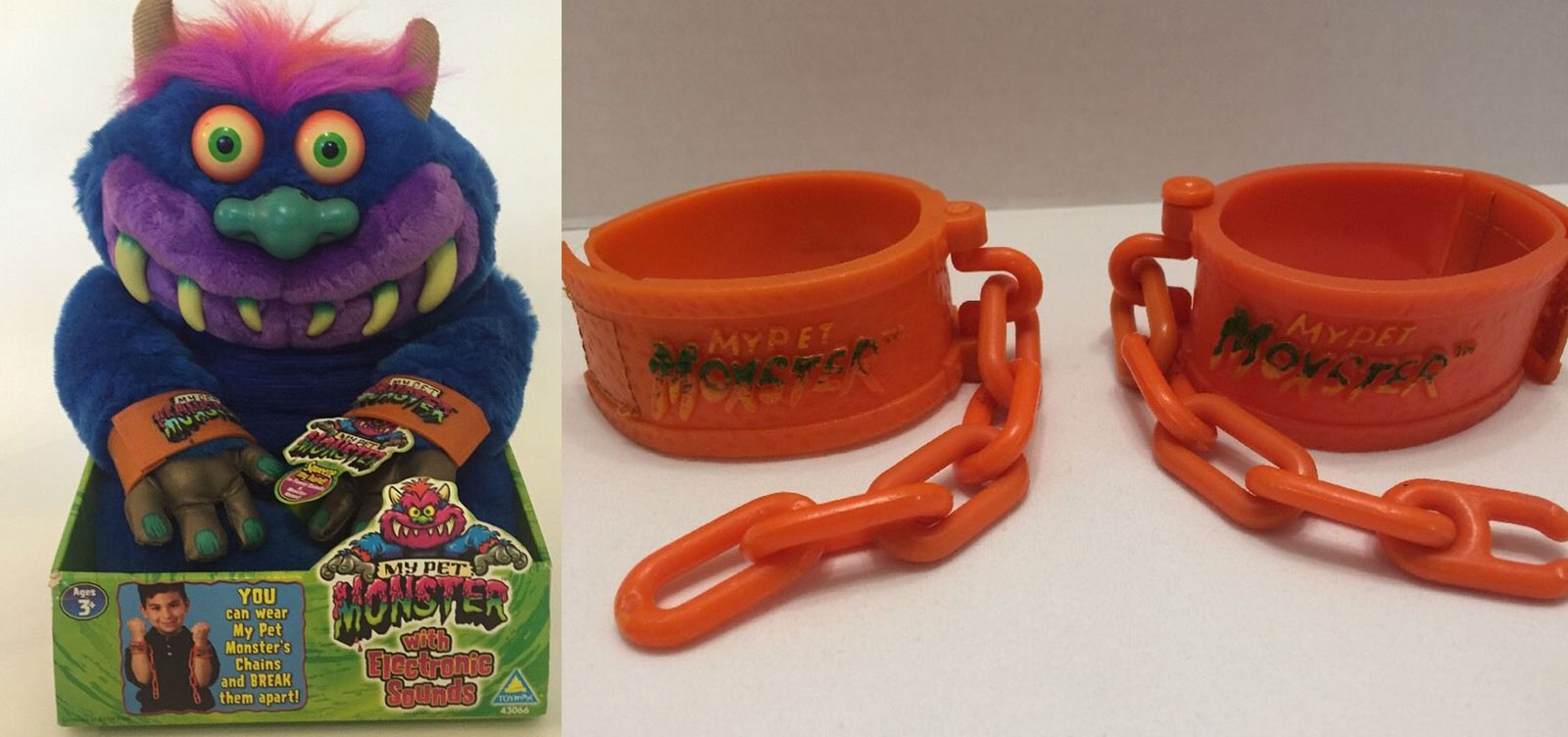 My Pet Monster - 2001 Edition and Old Cuffs