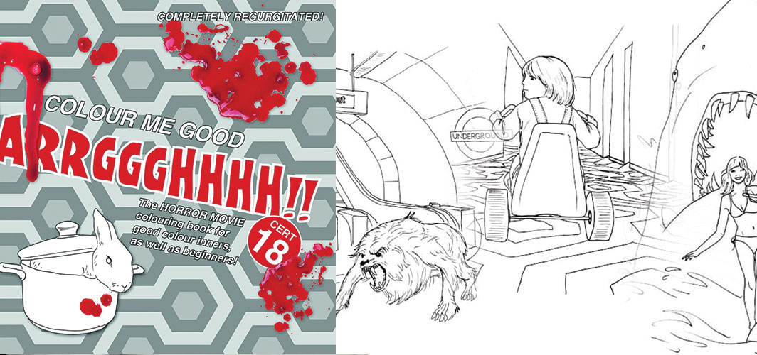 Gift Ideas for Horror Fans - Horror Movie Colouring Book
