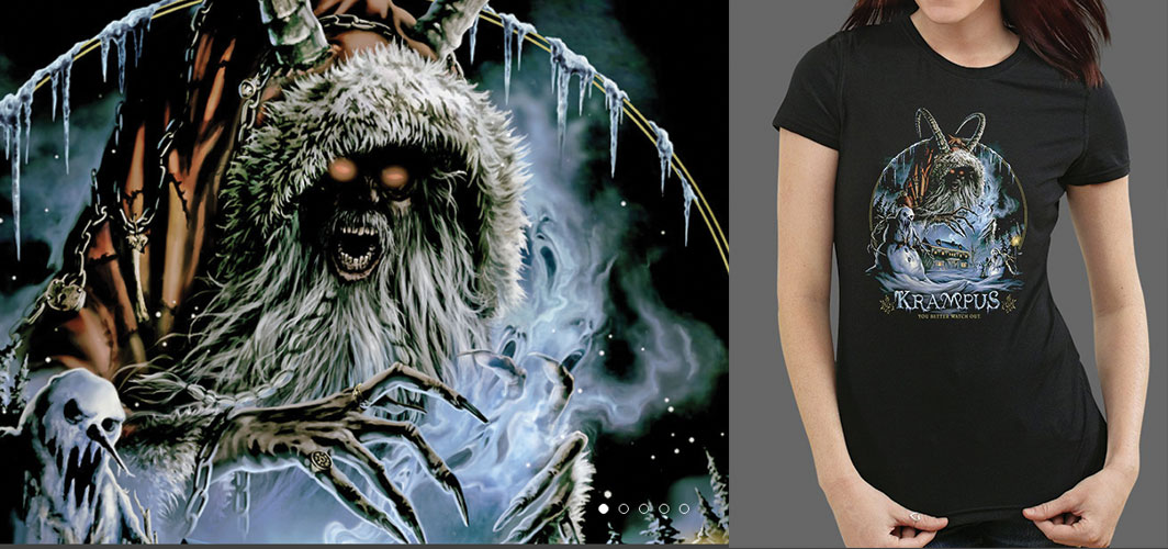Gift Ideas for Horror Fans - Krampus t-shirt