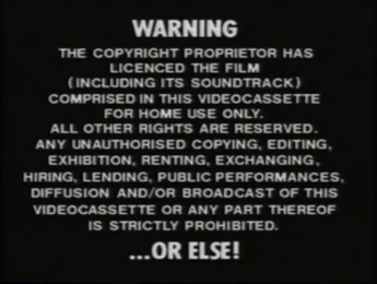 Palace Video - Or Else!