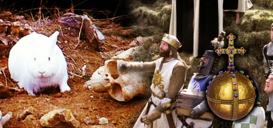 The Holy Hand Grenade of Antioch - Monty Python and the Holy Grail (1975) - 10 Bizarre Movie Weapons
