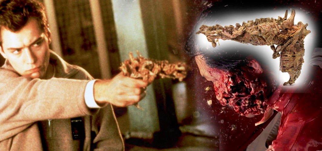 Organic Gristle Pistol – eXistenZ (1999) - 10 Bizarre Movie Weapons