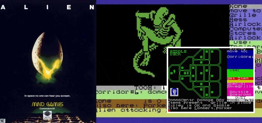 Alien - The Evolution of Horror Videos Games 1984 -1986 -