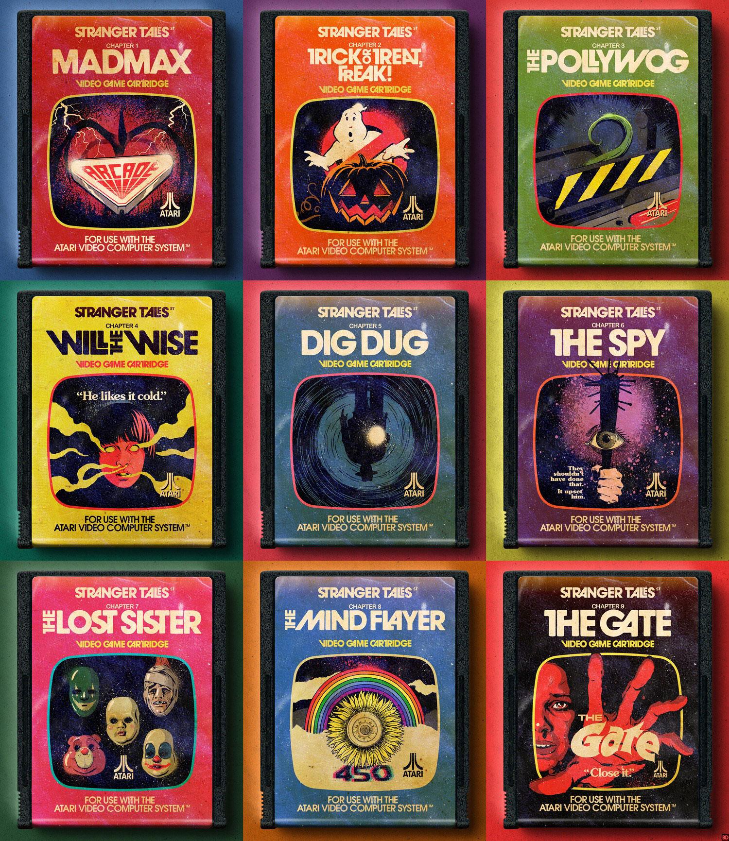 "Retro Book Covers for ""Stranger Things"" Season 2 - Atari"