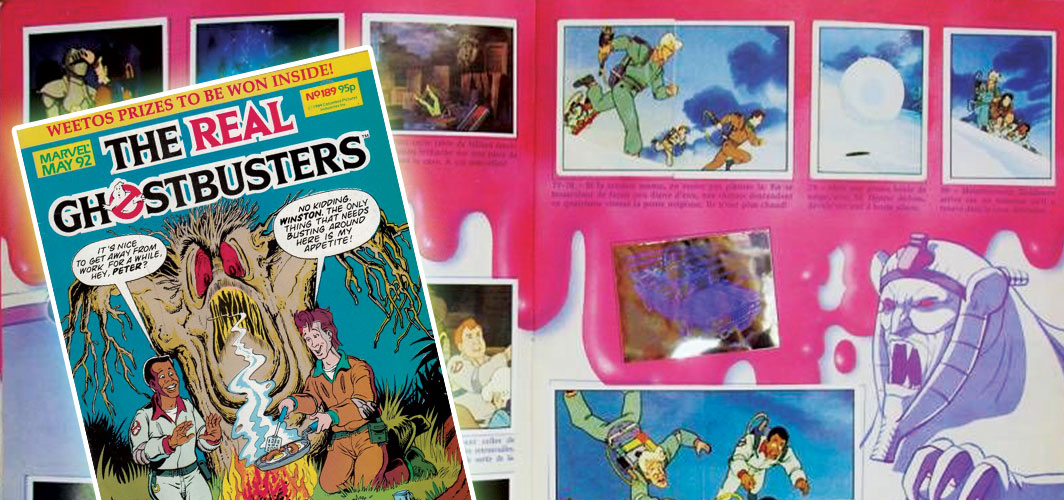 Remembering – The Real Ghostbusters - Sticker book and Comic