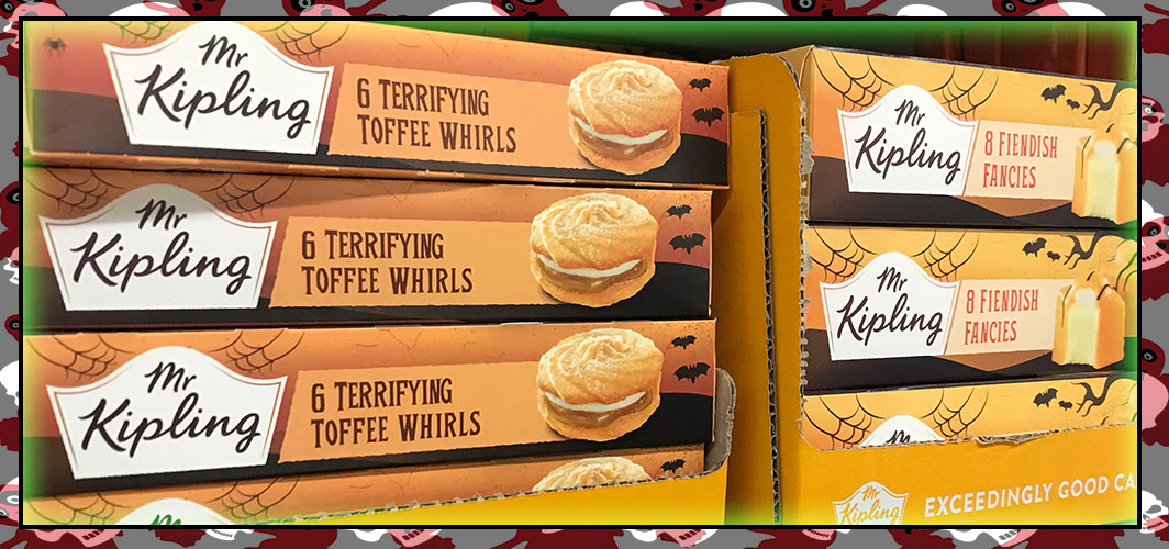 Mr Kipling - Fiendish Fancies & Toffee Terror Whirls - The Best UK Halloween Candy in 2018