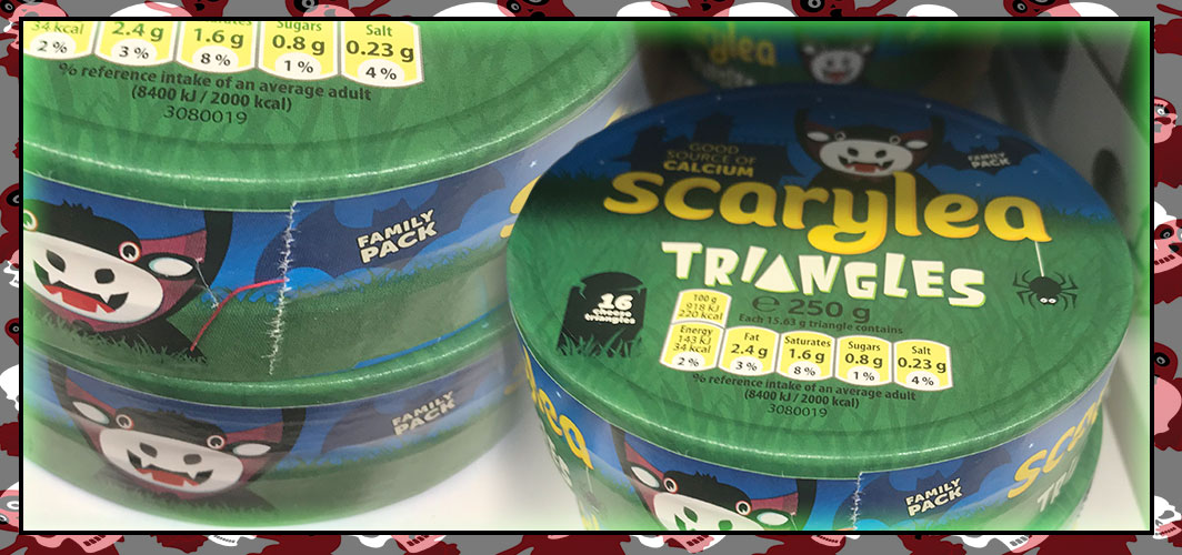 Scarylea – Spooky Cheese Triangles - The Best UK Halloween Candy in 2018