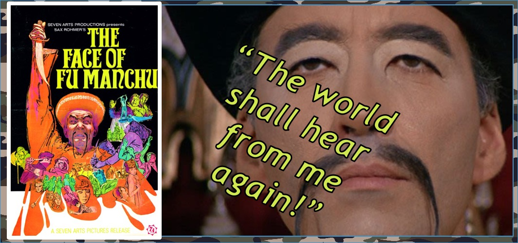 The Face of Fu Manchu (1965) – Christopher Lee - Yellowface - 8 Movies That Shamefully Used Blackface