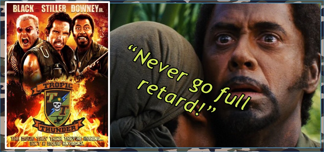 Tropic Thunder (2008) - Robert Downey Jr. – Blackface - 8 Movies That Shamefully Used Blackface