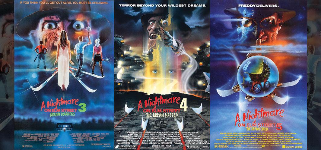 A Nightmare on Elm Street 3 + 4 + 5 - Movie Poster Clichés – Duplicates