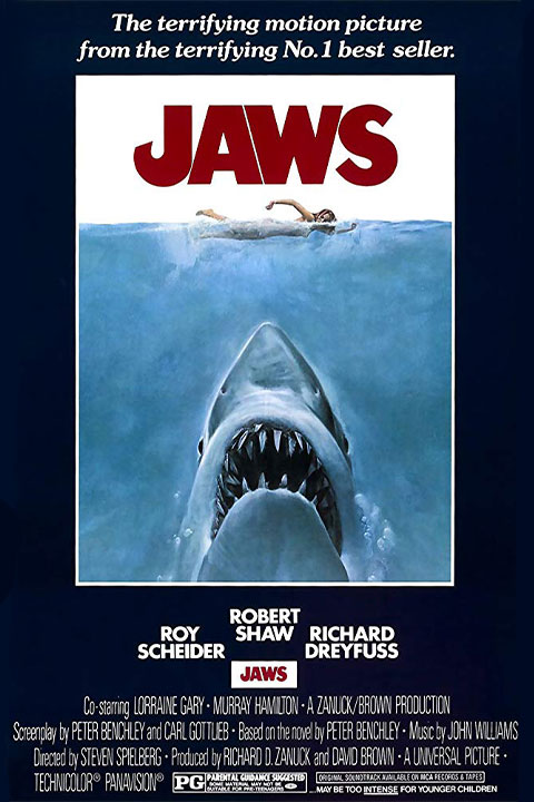 Jaws Poster - Blue Border