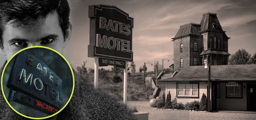10 Terrifying Horror Signs from Films - Bates Motel - Psycho (1960) - Horror Land
