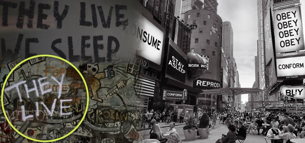 10 Terrifying Horror Signs from Films - Graffiti - They Live (1988) - Horror Land