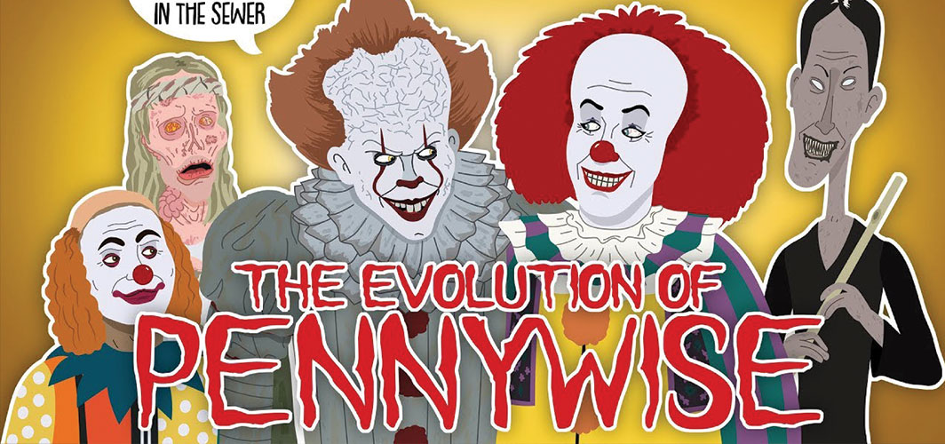 Horror Land Presents - The Evolution Of Pennywise / IT (Animated) - Horror Video