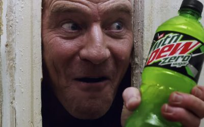 Bryan Cranston is Jack Torrance in Mountain Dew's Super Bowl Commercial!