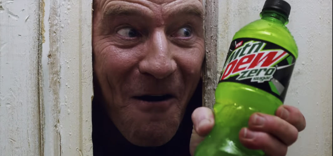 Horror Land Presents - Bryan Cranston is Jack Torrance in Mountain Dew's Super Bowl Commercial! - Horror Video
