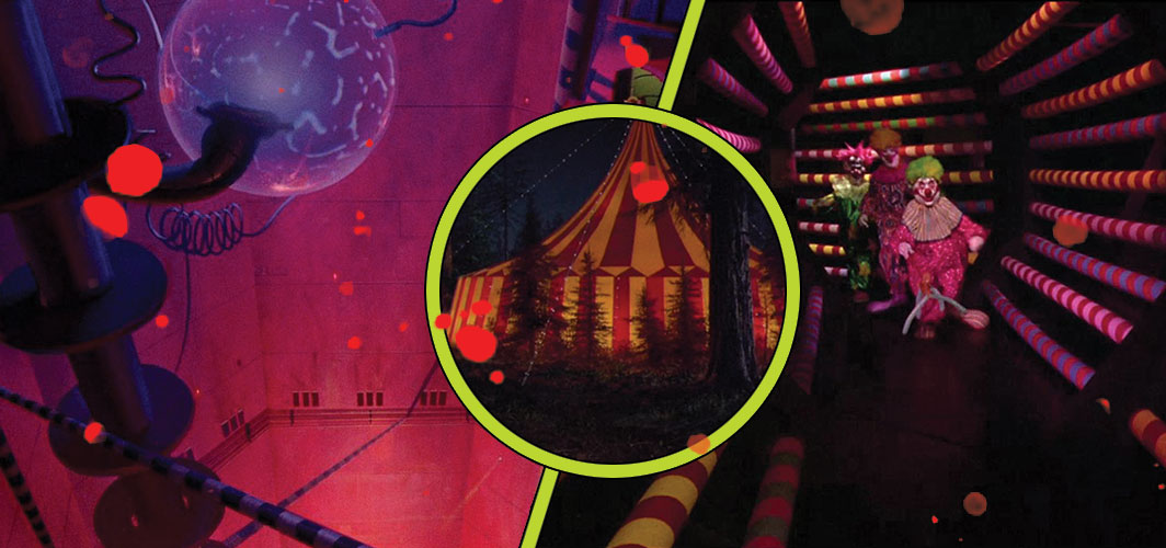 Killer Klowns from Outer Space (1988) – Circus Tent - 13 Places People Shouldn't Have Explored in Horror - Horror Land
