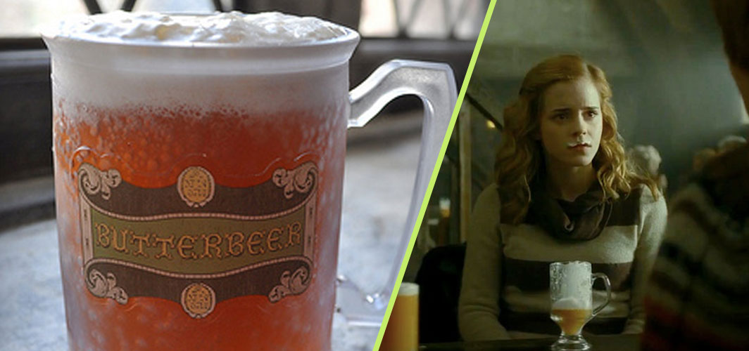 Authentic Bulgarian Miak and 10 other fictional foods from film and TV - Butterbeer - Harry Potter and the Goblet of Fire (2005) - Horror Land