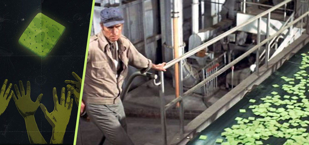 Authentic Bulgarian Miak and 10 other fictional foods from film and TV - Soylent Green - Soylent Green (1973) - Horror Land