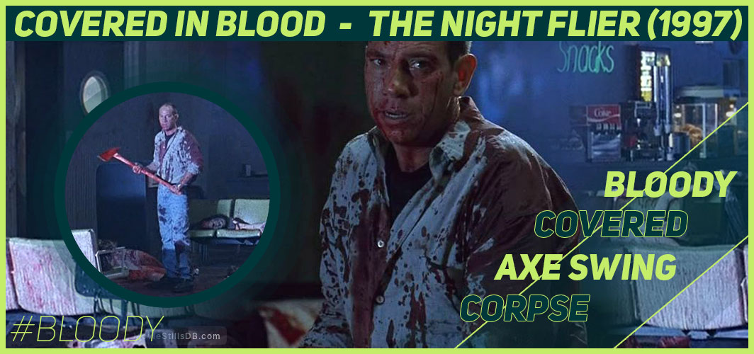 Actors Covered in Blood – 10 Films That Got Messy - The Night Flier (1997) - Horror Land