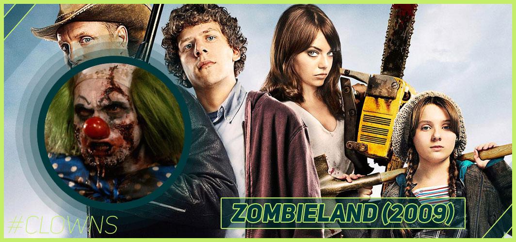 Zombieland (2009) - 12 Creepy Clown Movies – Horror Articles – Horror Land