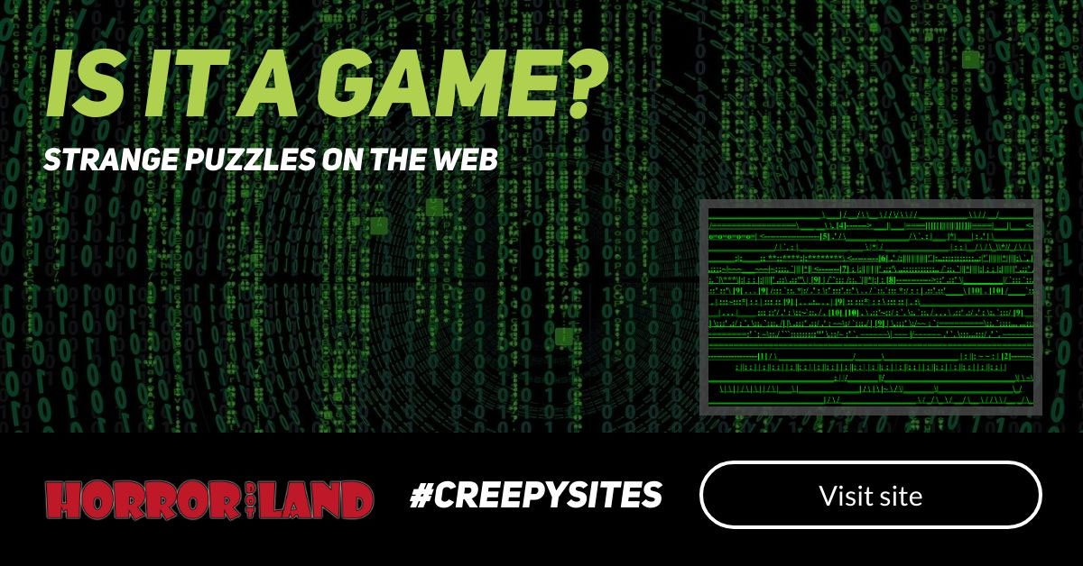 Is it a Game? - The 12 Creepiest Websites On The Internet - Horror Land