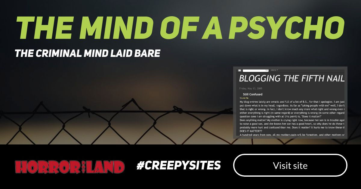 The Mind of a Psycho - The 12 Creepiest Websites On The Internet - Horror Land