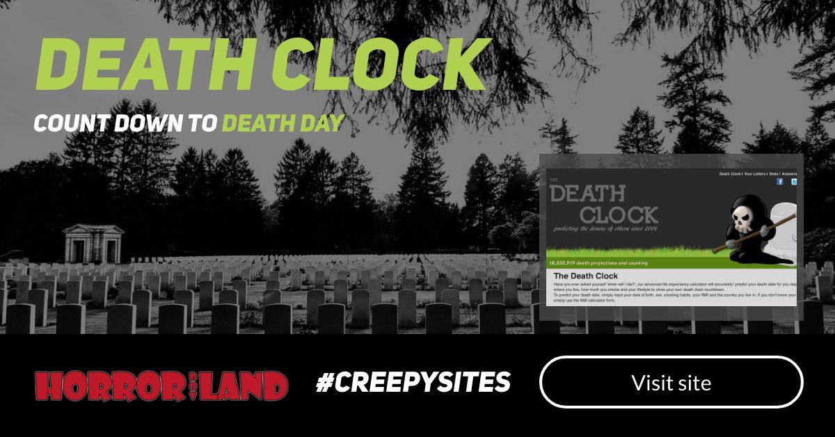 Death Clock - The 12 Creepiest Websites On The Internet - Horror Land